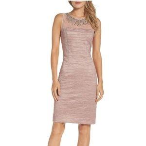 Eliza J Women's Metallic Sheath Dress